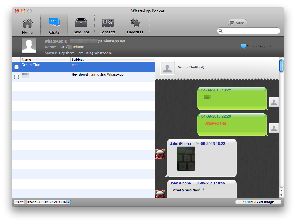 Extract WhatsaApp messages from iPhone to Mac