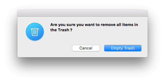 fore empty trash