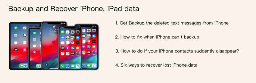 backup and recover iphone data