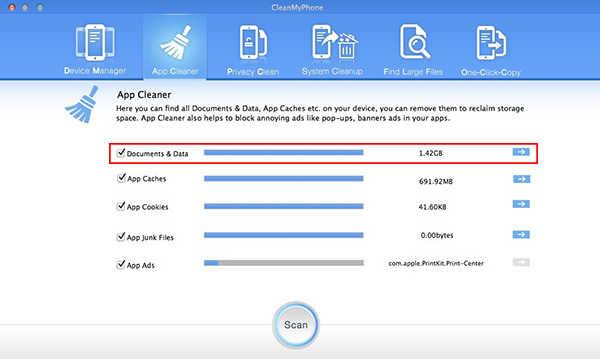 Remove Documents and Data with CleanMyPhone