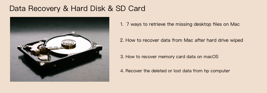data recovery for hard disk, sd card