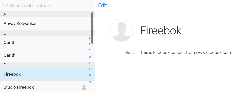 add contact notes on icloud