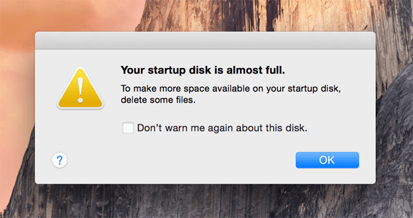 mac starup disk is full