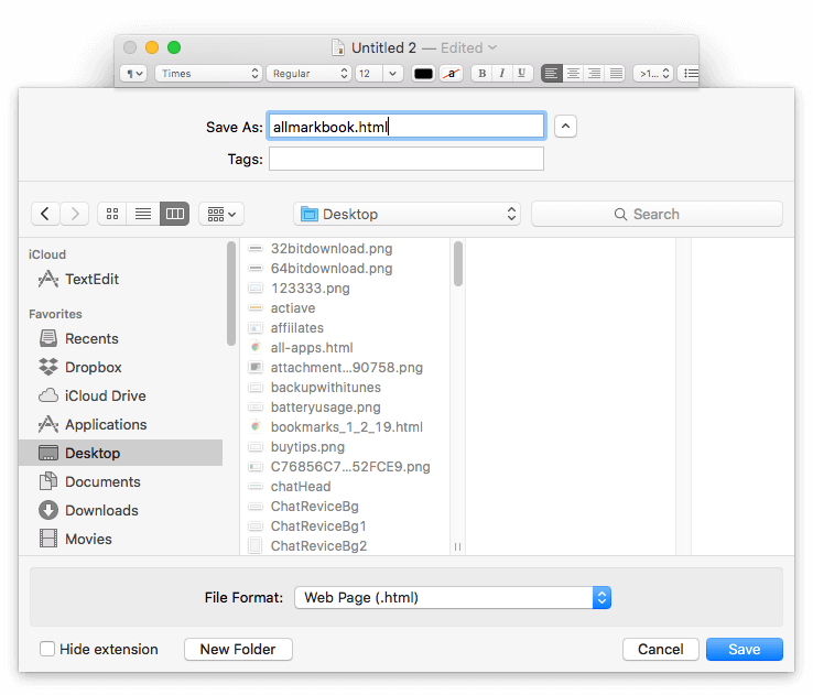 sync all the bookmarks on different browsers on the Mac
