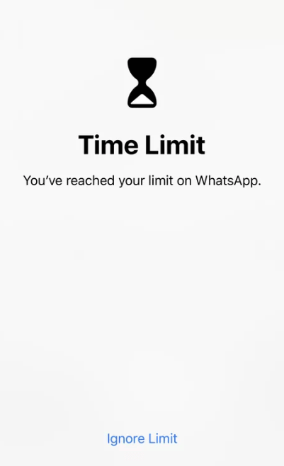 limit iPhone app