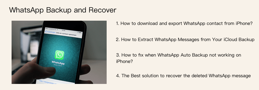 whatsApp chat backup and recover