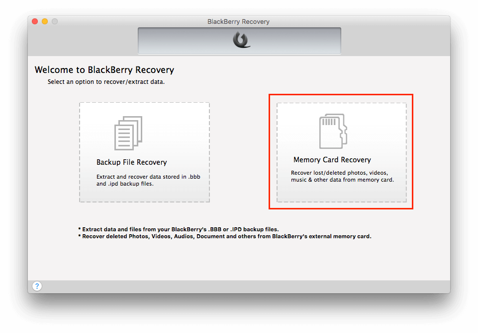 Two ways to Recover the deleted photos from BlackBerry phone