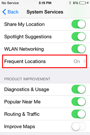 frequent locations iphone how to clear your location data on iphone 10669