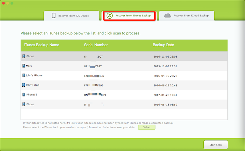 extract iPhone data from iTunes backup