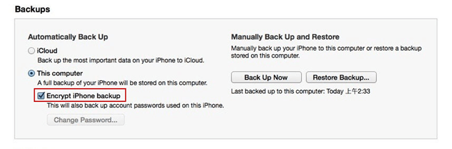 iPhone can't backup with iTunes because an error occurred