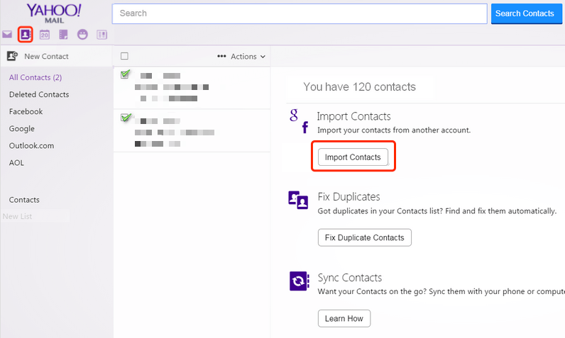 How to sync contacts between iPhone and Yahoo Address Book?