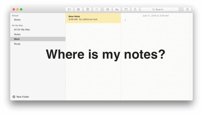 How to retrieve all lost Mac note after update to EI Capitan?