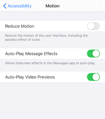 refresh reduce motion on iPhone