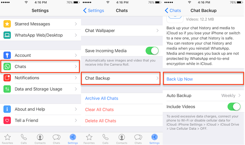 How To Save Backup Large Whatsapp Chat History From Iphone To The Computer